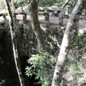 黒島神社石橋側面