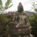 滝見観音石座像